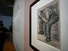 Study For 'Worn Out' by Dutch master Vincent van Gogh (Peter Dejong/AP)