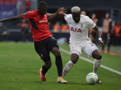 Tanguy Ndombele made the right impression in Tottenham's Europa Conference League match in Rennes (Jeremias Gonzalez/AP)