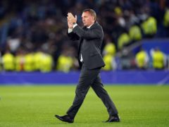 Leicester manager Brendan Rodgers was pleased with his team's showing against Napoli (Mike Egerton/PA)