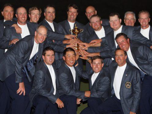 The USA celebrate winning the 2008 Ryder Cup (Nick Potts/PA)