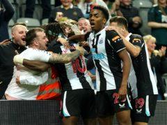 Allan Saint-Maximin scored to earn Newcastle a point against Leeds (Owen Humphreys/PA)
