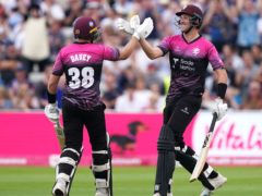 Somerset's Josh Davey (left) and Craig Overton helped their side through to the final (Mike Egerton/PA)