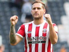 Billy Sharp celebrates Sheffield United's win over Hull (Isaac Parkin/PA).