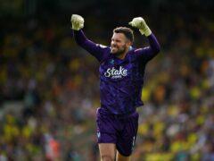 Ben Foster celebrates during Watford's win at Norwich last weekend (Joe Giddens/PA)