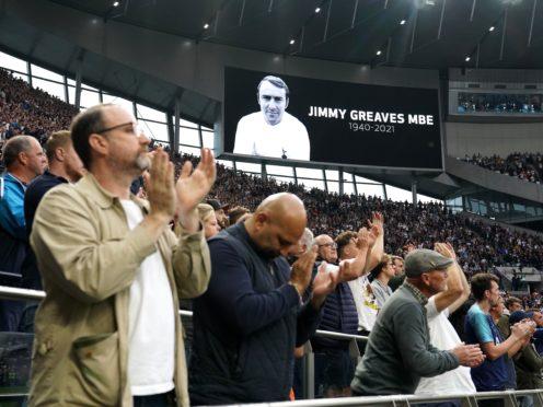 Tottenham are remembering Jimmy Greaves (Tim Goode/PA)