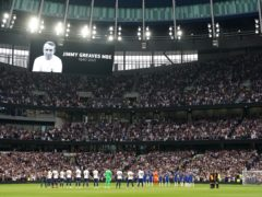 There was a minute's applause in honour of Jimmy Greaves before Tottenham played Chelsea (Tim Goode/PA)