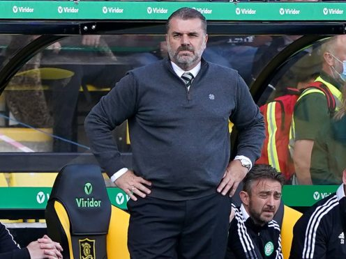 Ange Postecoglou's side lost on the road again (Andrew Milligan/PA)