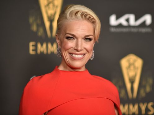 British stars of feel-good football comedy Ted Lasso, Hannah Waddingham and Brett Goldstein, have scored wins at the 73rd Primetime Emmy Awards (Richard Shotwell/Invision/AP)