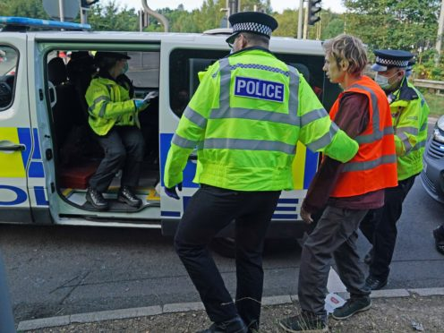 Environmental activists have indicated they will continue blocking the M25 despite a High Court injunction (Steve Parsons/PA)