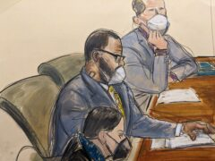 R Kelly is on trial in New York (Elizabeth Williams/AP)