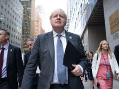 Prime Minister Boris Johnson walks to a television interview in New York (Stefan Rousseau/PA)