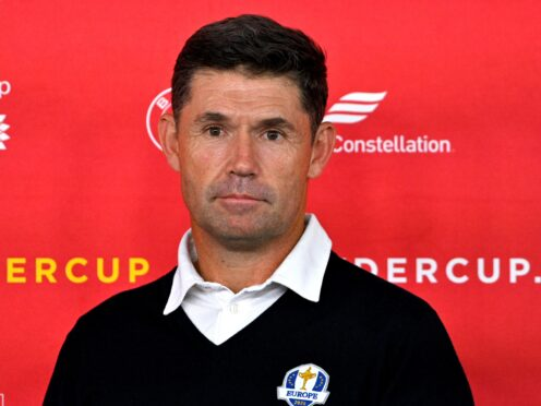 Padraig Harrington defended his decision to rest Rory McIlroy on day two of the 43rd Ryder Cup (Anthony Behar/PA)