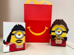 One of the new cardboard McDonald's Happy Meal toys (Dee-Ann Durbin/AP)