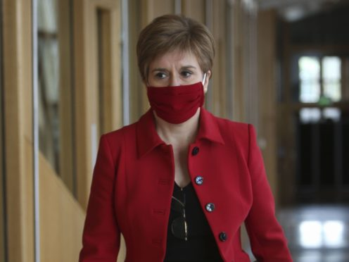 First Minister Nicola Sturgeon said she is extremely concerned about rising energy prices (Fraser Bremner/Scottish Daily Mail/PA)