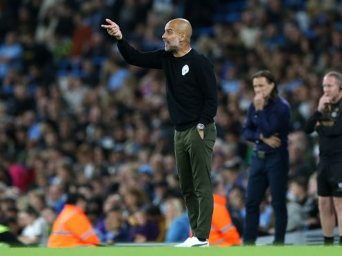 Pep Guardiola was left impressed by Manchester City's young prospects in Tuesday's win over Wycombe (Barrington Coombs/PA)