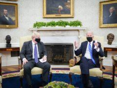 Prime Minister Boris Johnson meets US President Joe Biden (Stefan Rousseau/PA)