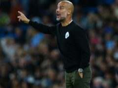 Pep Guardiola accepts he has his work cut out to keep PSG quiet (Barrington Coombs/PA)