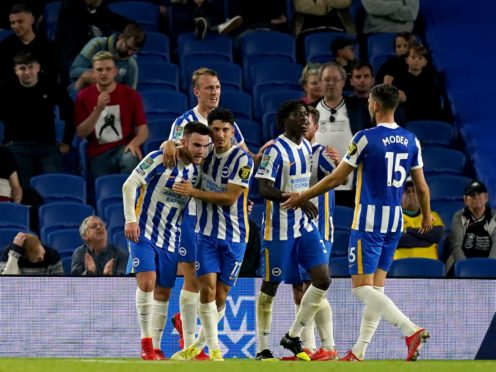 Brighton manager Graham Potter insisted everyone at the club loves Aaron Connolly after his two goals were the difference in the win over Swansea (Gareth Fuller/PA)