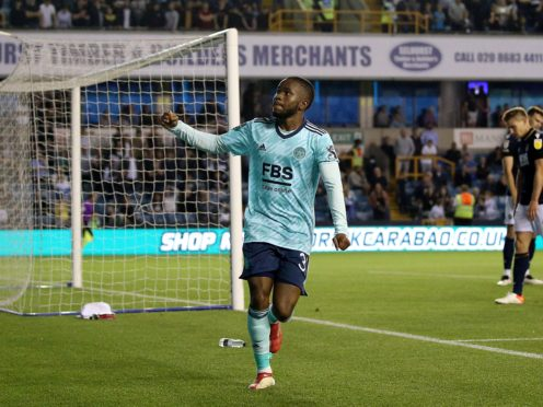 Ademola Lookman opened the scoring for Leicester (Steven Paston/PA)