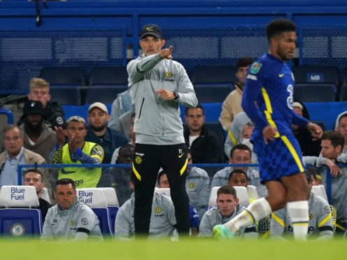 Chelsea manager Thomas Tuchel made sweeping changes from the Premier League win over Tottenham (Mike Egerton/PA)