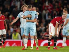 West Ham dumped Manchester United out of the Carabao Cup (Martin Rickett/PA)