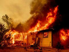 Flames consume a house near Old Oregon Trail in California (AP)
