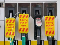 The driver shortage has forced the closure of petrol pumps across the UK as retail bosses have warned that the driver crisis could also disrupt Christmas (Yui Mok/PA)