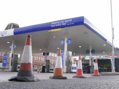 A petrol station in Sheffield which is closed (Danny Lawson/PA)