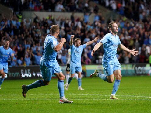 Viktor Gyokeres scored twice as Coventry defeated Peterborough (Tim Goode/PA)