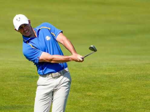 Rory McIlroy insisted Europe could recover from 6-2 down to retain the Ryder Cup, despite seeing his streak of 26 consecutive matches come to an end at Whistling Straits (Jeff Roberson/AP)