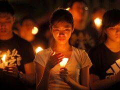 The vigil was an annual event in Hong Kong (AP)