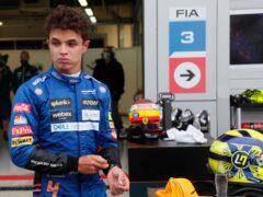 Lando Norris, pictured, was beaten to first place by Lewis Hamilton (Yuri Kochetkov/AP)