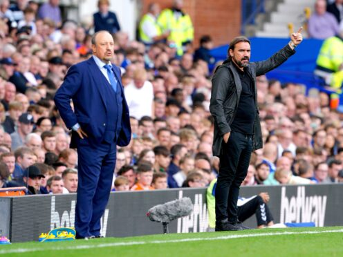 Norwich manager Daniel Farke, right, felt Everton's penalty should not have been given (Peter Byrne/PA)