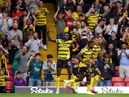 An Ismaila Sarr equaliser denied Newcastle their first win of the Premier League season in a 1-1 draw at Watford (Tess Derry/PA)