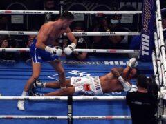 Callum Smith, left, knocked out Lenin Castillo (Nick Potts/PA)