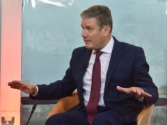 Labour Party leader Sir Keir Starmer appearing on the BBC's The Andrew Marr Show (Jeff Overs/BBC/PA)