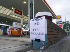 A Shell petrol station in Bracknell, Berkshire, which has no fuel (Steve Parsons/PA)