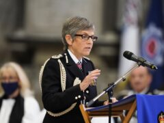 Metropolitan Police Commissioner Cressida Dick speaks during the National Police Memorial Day Service at Lincoln Cathedral, Lincoln (Danny Lawson/PA)