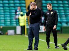 Celtic manager Ange Postecoglou endured more frustration (Jane Barlow/PA)
