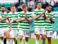 Celtic players following Sunday's draw with Dundee United (Jane Barlow/PA)