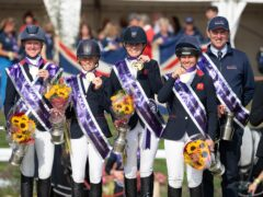 Nicola Wilson, Ros Canter, Piggy March and Kitty King became the first all-female team to take European gold (Handout photo provided by British Equestrian/Jon Stroud Media)