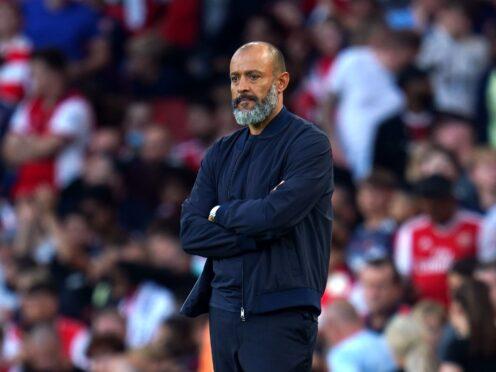 Nuno Espirito Santo took the blame for Tottenham's loss to Arsenal (Nick Potts/PA)