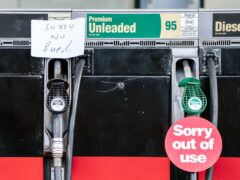 Fuel pumps out of use at a deserted petrol station forecourt in Honley, West Yorkshire (Danny Lawson/PA)