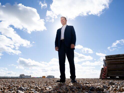Labour leader Sir Keir Starmer on Worthing beach (Stefan Rousseau/PA)