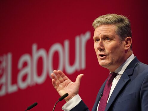 Labour leader Sir Keir Starmer was heckled by party members during his conference speech (Andrew Matthews/PA)