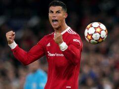 Ronaldo struck at the death for Manchester United (Martin Rickett/PA)