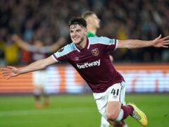 David Moyes reserved praise for Declan Rice, pictured (Mike Egerton/PA)
