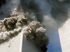 The south tower of the World Trade Centre (PA)