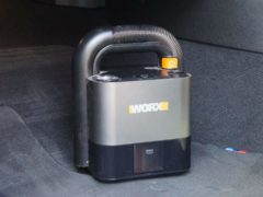 The Cube Vac works with Worx's range of batteries