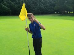 James Watson, 15, who had two holes-in-one in the same round at Barnard Castle Golf Club (Anthony Barker/PA)